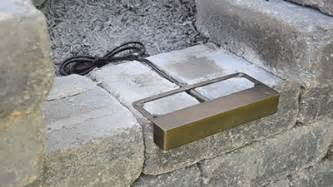 stone solar lights article installing the undercover hardscape light step