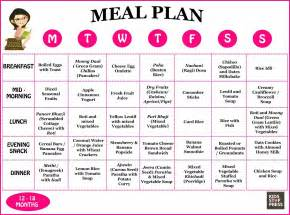 The ideal indian meal plan for a 12 18 month old kids