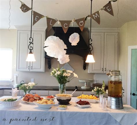 theme bridal shower menu 2 a painted nest event woodland themed baby shower