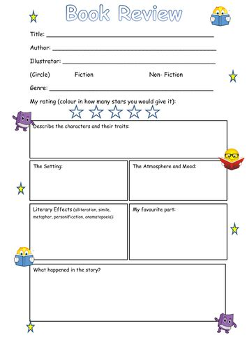 book template ks1 book review frame ks2 by steffster teaching resources tes
