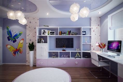 purple girls bedroom casting color over kids rooms