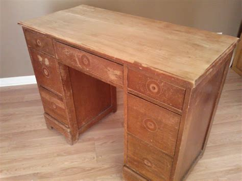 painting faux leather furniture salvaged wood desk transformed with chalk paint