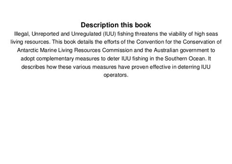 Ebook Fishery 3 aspects of illegal unreported and unregulated