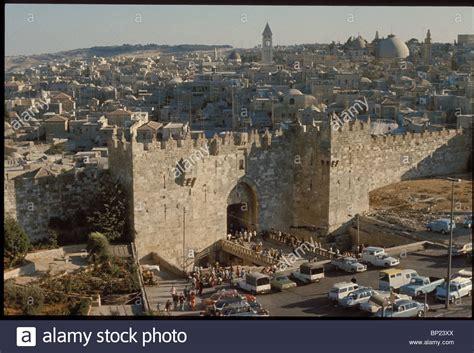 Suleiman Ottoman Jerusalem The Damaskus Gate Built By The Ottoman Sultan Suleiman The Stock Photo Royalty Free
