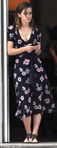 Stand out summer style emma watson makes an impact in plunging floral