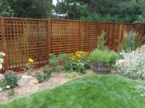 Design Ideen Schlafzimmer 2540 by Western Cedar Heavy Lattice Fence Denver All