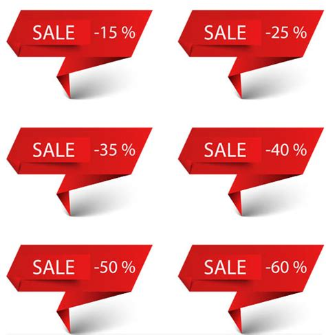 Origami Sale - origami sale elements vector ai format free vector