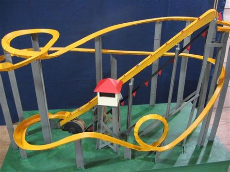 How To Make A Paper Roller Coaster Track - 17 best images about roller coaster models on
