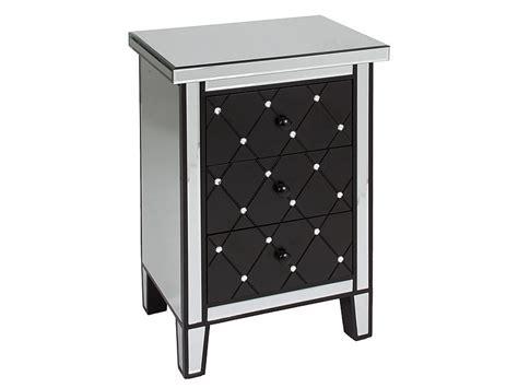 mesa auxiliar   cajones realizada en madera  espejo