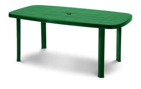 tavoli in plastica da esterno tavolo in plastica da giardino 180x85 colore bianco verde