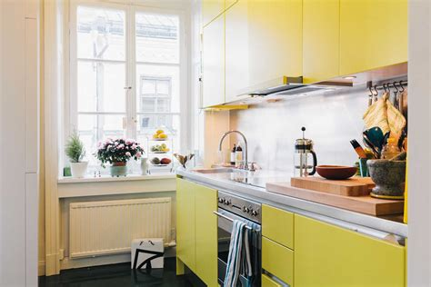 yellow modern kitchen colorful kitchens decorating home ideas designs