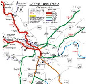 Atlanta Train Map by Atlanta Ga Railfan Guide Rsus