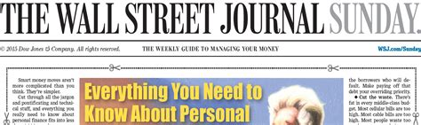 wall street journal review section where the wsj sunday staff is going talking biz news