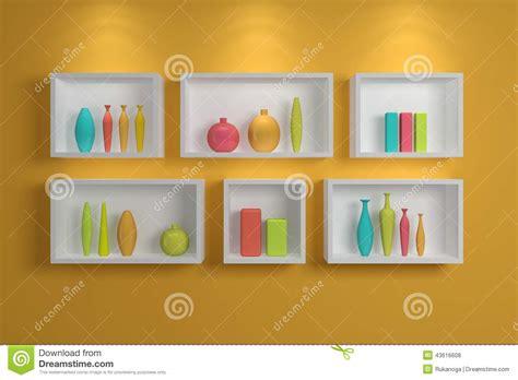 scaffali moderni mensole moderne illustrazione di stock immagine 43616608
