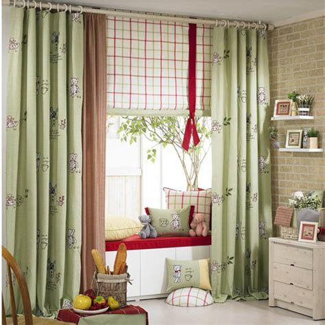 Astonishing Ideas For Kids Curtains Green Curtains For Nursery
