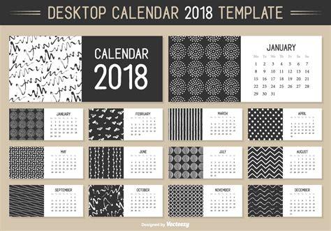 monthly desktop calendar 2018 vector template
