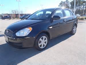 hyundai accent 2007 black sedan gls gasoline 4 cylinders