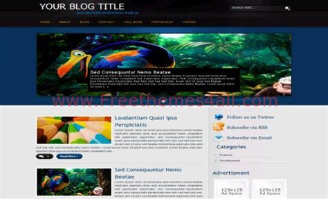 wordpress themes free blue free abstract black blue wordpress theme freethemes4all