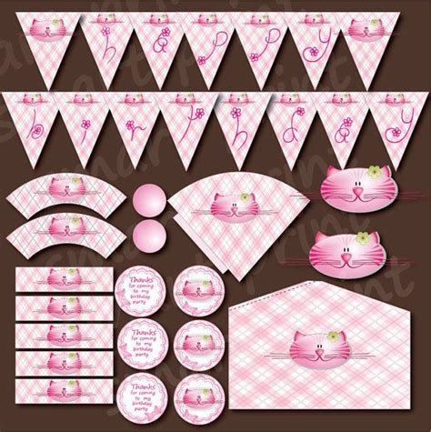 cute printable birthday banner 1000 images about cat themed party ideas on pinterest
