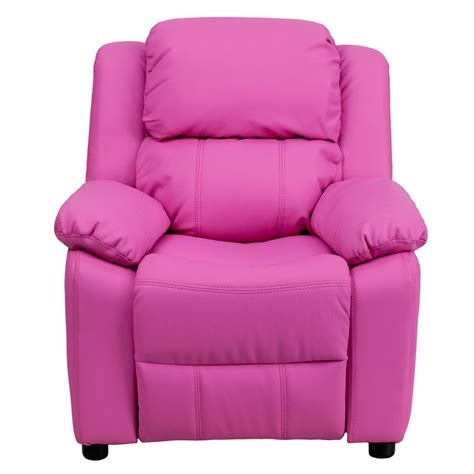 pink recliners flash furniture deluxe heavily padded contemporary hot
