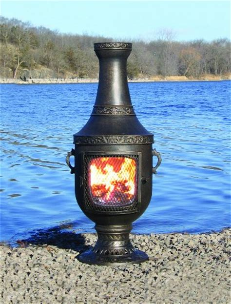 Gas Chiminea The Blue Rooster Cast Aluminum Venetian Chiminea With Gas