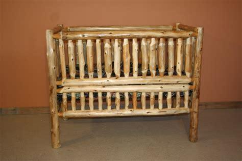 cedar log baby crib cedar log baby crib convertible barn wood furniture