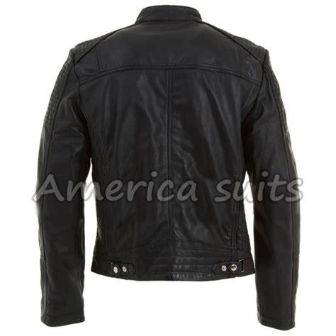 biker jacket sale mens black leather biker jacket on sale
