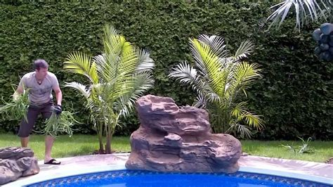diy pool waterfall serenity pool waterfall installation youtube