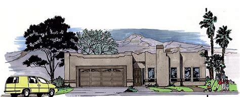 santa fe southwest house plan 54604 house plan 54604 at familyhomeplans com