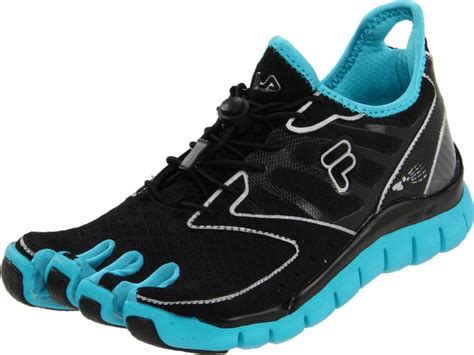 athletic shoes with toes fila skele toes womens running shoe black metalic