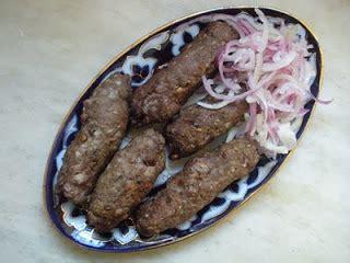 the art of uzbek cuisine: qiyma kabob (kebabs with minced