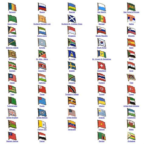 flags of the world from a to z world flag assorted lapel pins r z