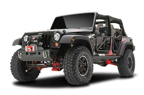 jeep jk suspension rancho 174 4 quot short arm suspension in black with rs5000