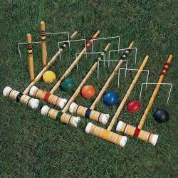 Backyard Croquet Back Porch Petanque Badminton Croquet Oh My