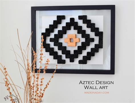 pattern wall canvas diy aztec pattern wall art made in a day