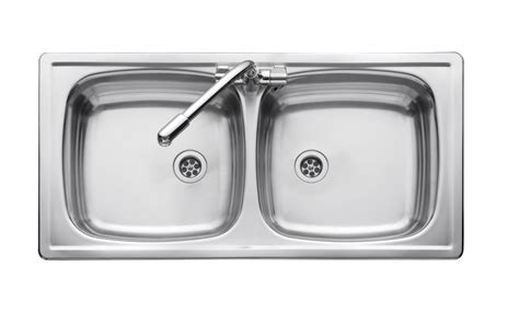 inset sinks kitchen stainless steel leisure euroline el860db 2 0 bowl 1th stainless steel