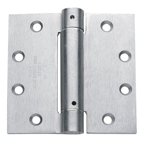 Taco 4.5 in. x 4.5 in. Brushed Chrome Steel Spring Hinge