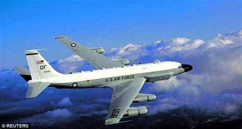 russian su  jet fighter flies   feet   surveillance jet daily mail