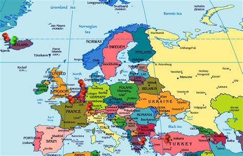 netherlands on a map of europe geography map