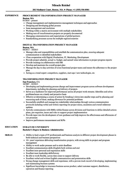 download project manager cv template for free tidyform