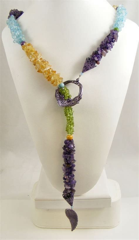 Gemstone Lariats From Sweet Sky Jewelry by 104 Best Images About Beadwork By Sweet Freedom Designs On