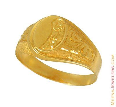 22k indian gold ring rims9660 22k gold mens ring with
