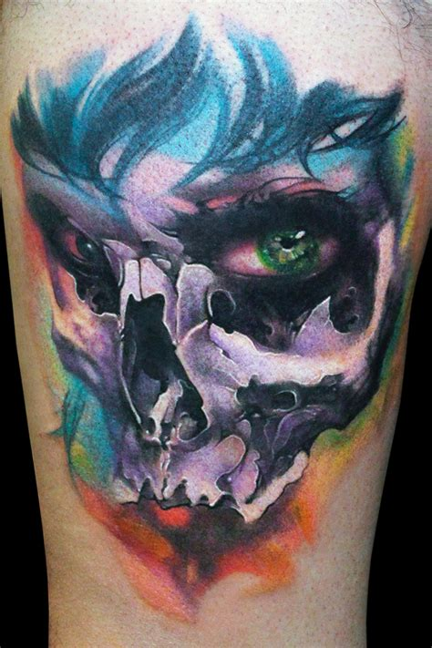 colorful skull tattoo designs color skull tattoos designs www pixshark images