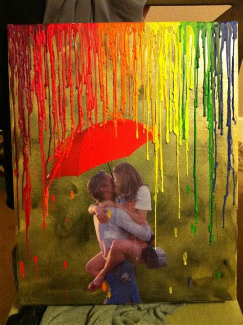 love rain themes melted crayon art umbrella silhouette ma