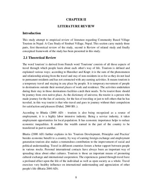 tourism dissertation exles community based tourism in nepal study of