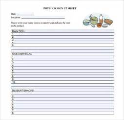 potluck sign up sheet template potluck sign up sheet template