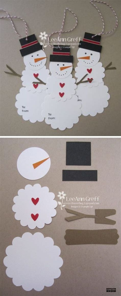 Paper Snowman Crafts - 1000 ideas about gift tags on gift