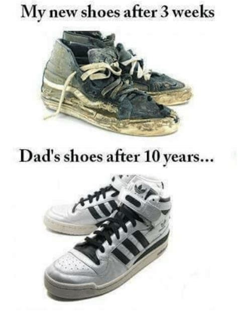 Meme Sneakers - my new shoes after 3 weeks dad s shoes after 10 years