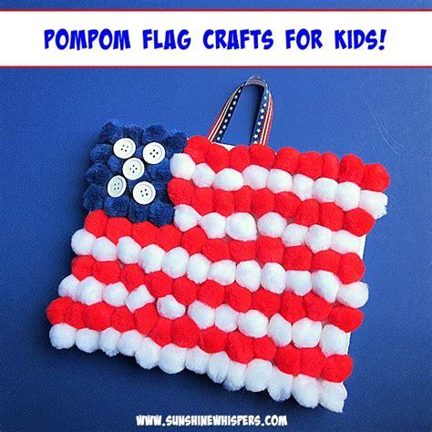 flag crafts for easy pompom flag crafts for