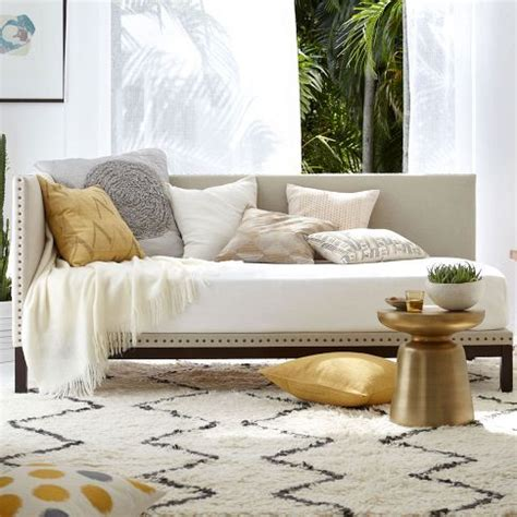 west elm day bed obsessed with this nailhead trim daybed from west elm